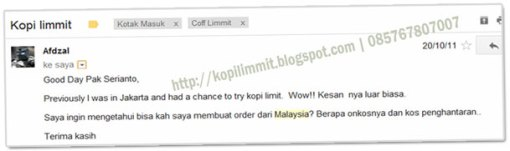 Kopi Limmit Malaysia, KOpi LIMMIT, LIMMIT Coffee