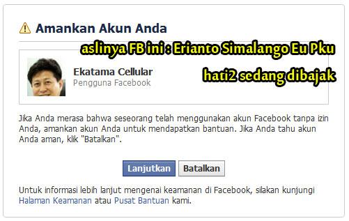 Bajak Facebook, Hack Facebook