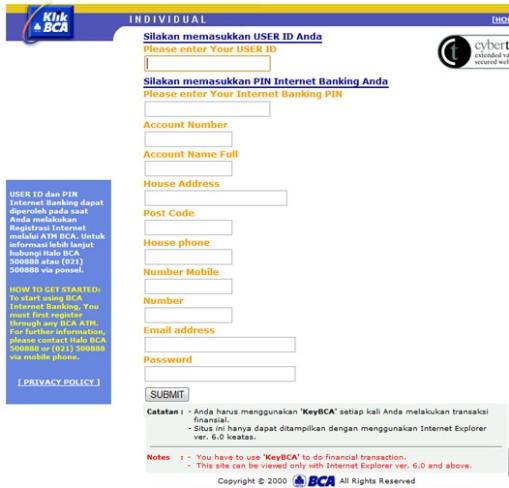 Email Palsu Klik BCA