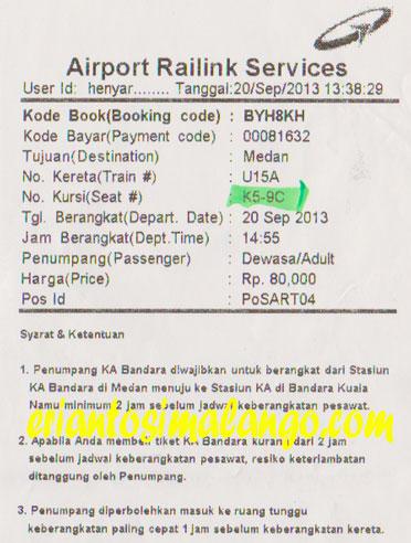 Tiket Kereta Api Kualanamu