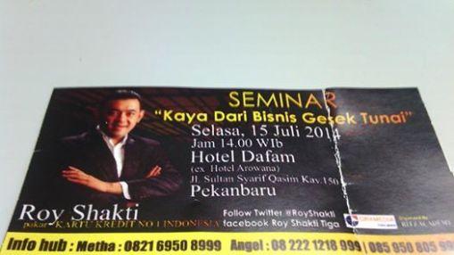 seminar cara kaya dengan bisnis gesek tunak gestun