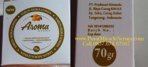 BPOM Aroma Derma Sabun Muka Lemon