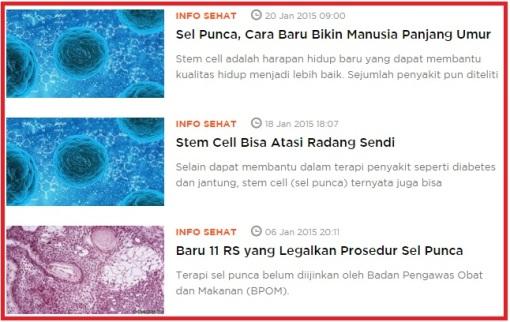 Harga Biaya Terapi dan Perkembangan Stem Cell di Indonesia