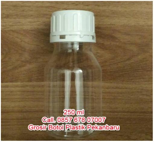 Grosir botol plastik di Pekanbaru uk 250ml