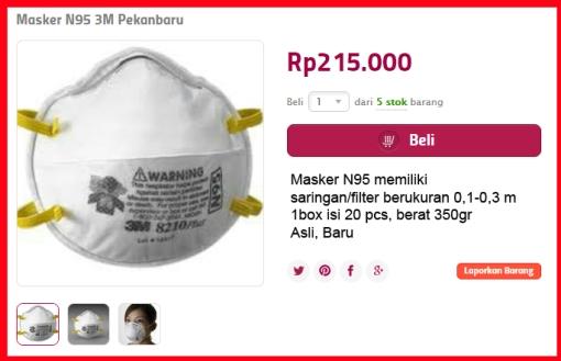 Jual masker n95 di Pekanbaru