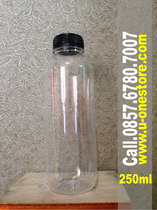 harga jual botol plastik bening-ukuran-250ml di pekanbaru