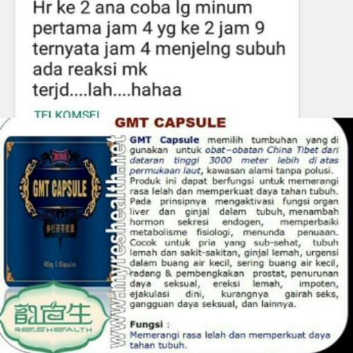 Testimoni GMT CAPSULE Murah reshealth indonesia