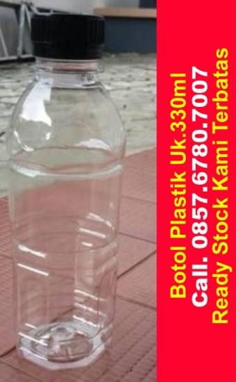 harga jual botol plastik bening pet ukuran 330ml bulat di pekanbaru