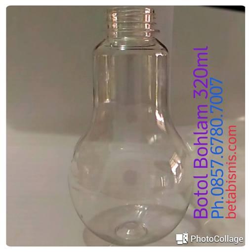 Botol plastik bohlam 320ml Pekanbaru