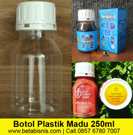 Jual Botol Madu Plastik Ukuran 250ml di Pekanbaru