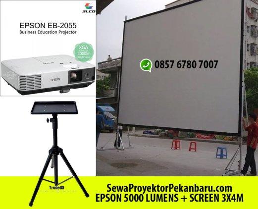 Sewa screen Proyektor Ukuran 3x4M di Pekanbaru